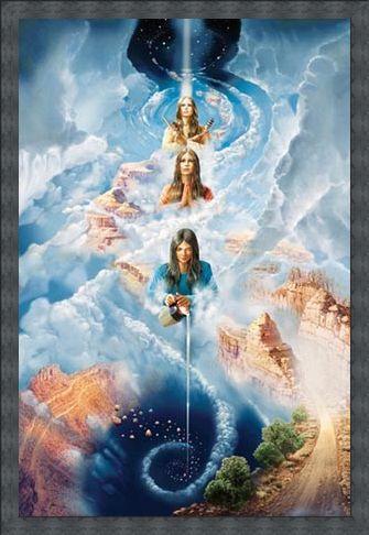 Framed Framed Navajo Creation Myth - John Stephens