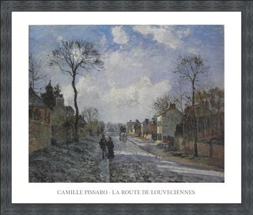 Framed Framed The Road to Louveciennes - Camille Pissaro