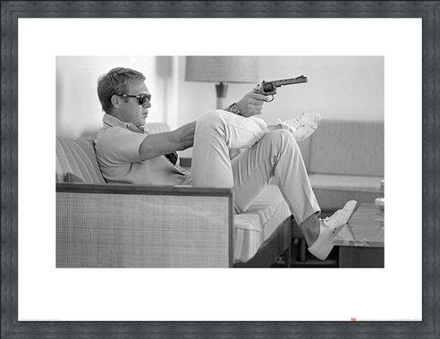 Framed Framed Steve McQueen Takes Aim - Time Life