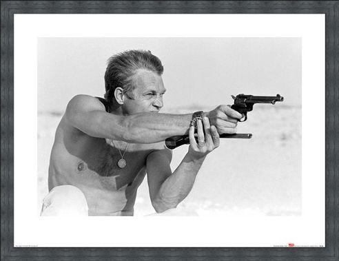 Framed Framed Steve McQueen - Pistols - Time Life