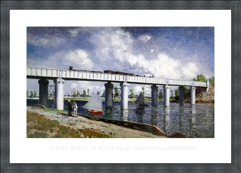 Framed Framed The Railway Bridge at Argenteuil - Claude Monet