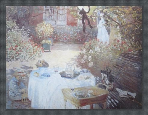 Framed Framed Lunch At Parigi - Claude Monet