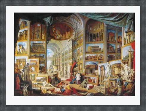 Framed Framed Galerie Des Vues De La Rome Antique, 1755 - Giovanni Paolo Pannini