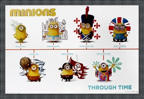Framed Framed Minions Through Time - Minions