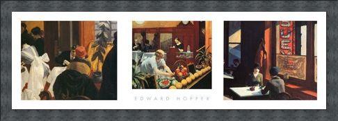 Framed Framed American Realism Triptych - Edward Hopper