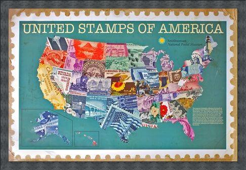 Framed Framed United Stamps Of America - The Smithsonian Institute