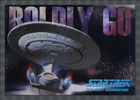 Framed Framed Boldly Go - Star Trek: The Next Generation