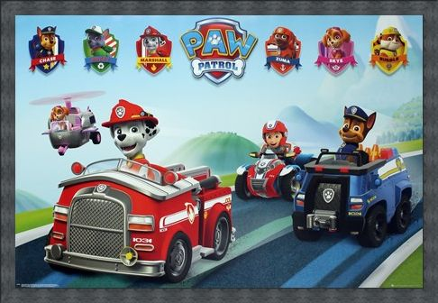 Framed Framed Puppy Vehicles - Paw Patrol