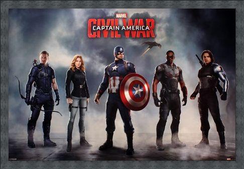 Framed Framed Team Stars and Stripes - Captain America Civil War