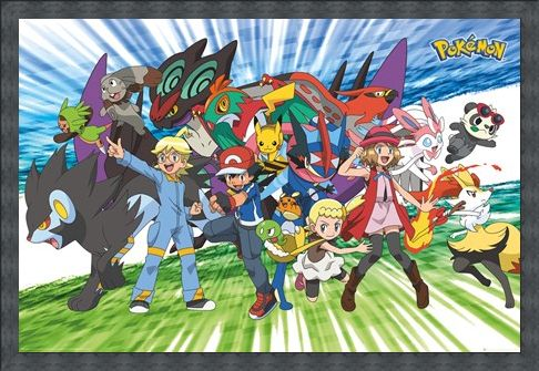 Framed Framed Travelling Party - Pokémon