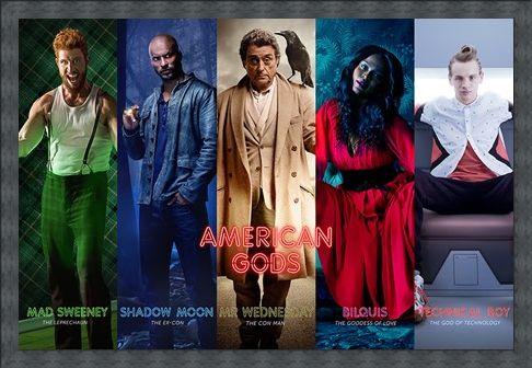 Framed Framed Character Collage - American Gods