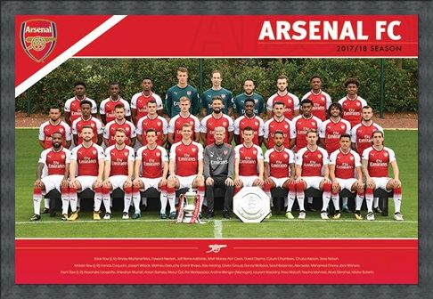 Framed Framed Arsenal FC - (Team 17/18)