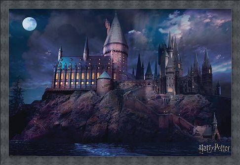 Framed Framed Hogwarts - Harry Potter