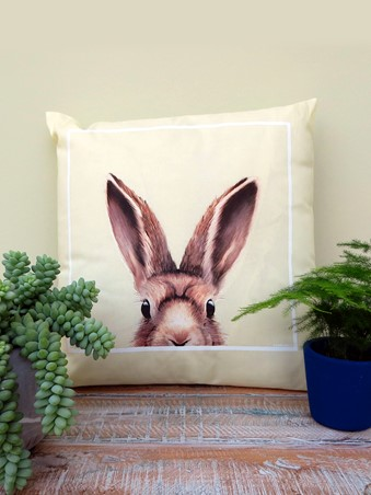 Inquisitive Creatures Hare Cream Cushion