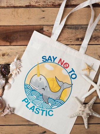 Say No To Plastic Tote Bag