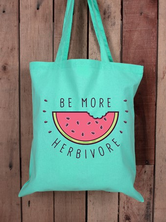Be More Herbivore Tote Bag