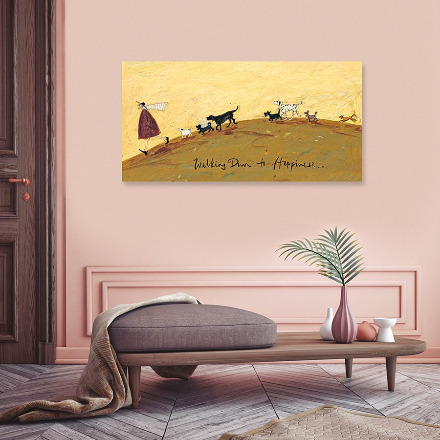 Walking Down To Happiness Sam Toft Large Canvas Buy Online