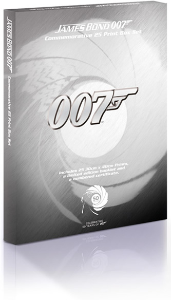 James Bond 007 Commemorative 25 Print Boxset - Limited Edition, Celebrating 50 Years of 007