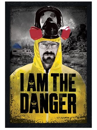 Black Wooden Framed I Am The Danger - Breaking Bad