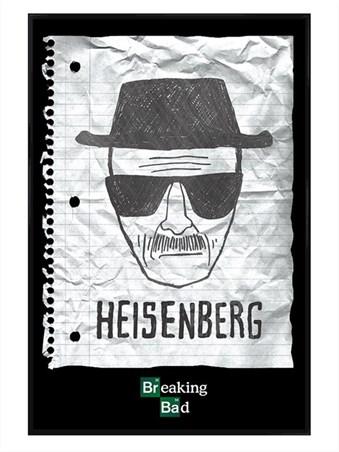 Gloss Black Framed Heisenberg Wanted Poster - Breaking Bad