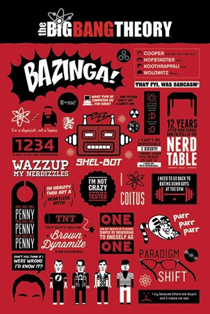 The Big Bang Theory Infographic - The Big Bang Theory