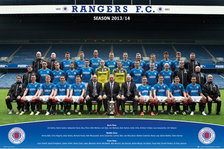 Framed Team Photo 2013/14 - Rangers Football Club