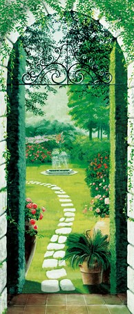 Vista dal Porticato by Laura Tedeschi - Nature 1 Sheet Door Mural
