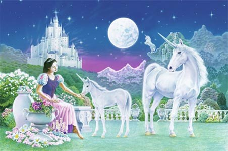 Unicorn Princess by Robin Koni - Fantasy Art Mini Mural