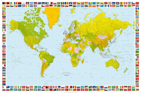 Map of the World - 1 Sheet World Map Mini-Mural