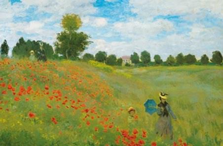 Champs de Coquelicots by Claude Monet - Fine Art Mini Mural