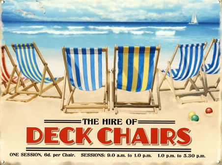 Deck Chairs For Hire - Brilliant Blue