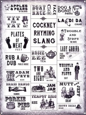 Framed Cockney Rhyming Slang - You Won't Adam and Eve It
