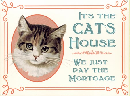 It's The Cat's House - We Just Pay The Mortgage