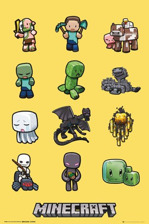 Framed Minecraft Characters - Minecraft