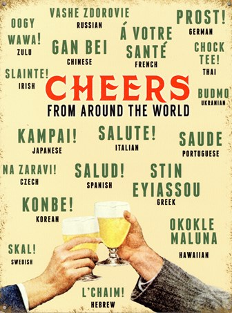 Cheers From Around The World, Languages