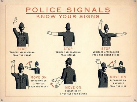 Police Signals - Vintage Advertisement
