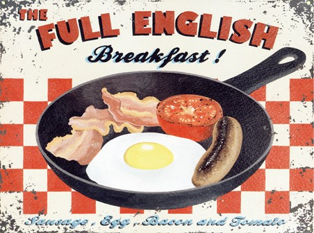 Full English Breakfast - Retro Food Advertisement