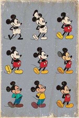 Mickey Mouse Evolution - Walt Disney