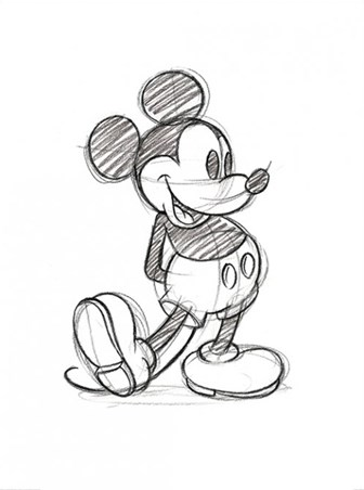 Mickey Mouse Sketch - Walt Disney