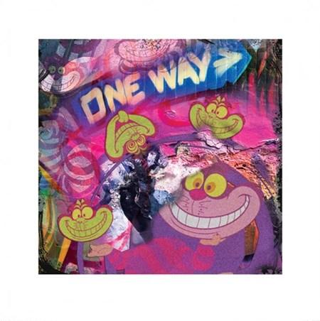 Psychedelic Cheshire Cat - Alice In Wonderland