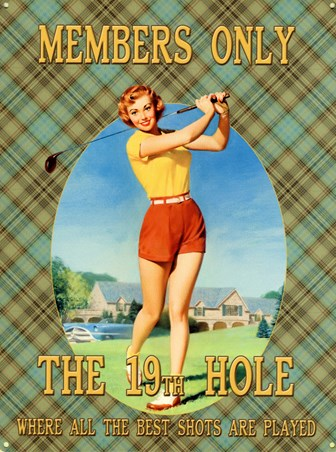 The 19th Hole - Vintage Golf Advertisement