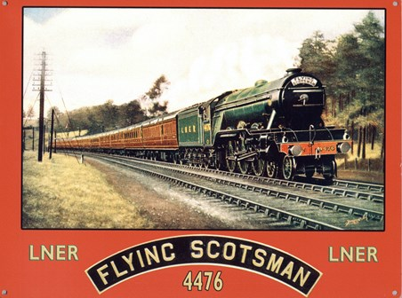 The Flying Scotsman, Vintage Railway Advert