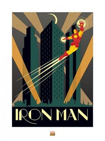 Framed Iron Man - Marvel Deco