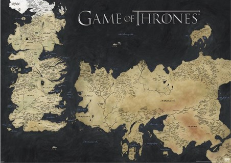 Map Of Westeros & Essos - Game Of Thrones