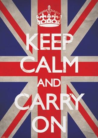 Keep Calm & Carry On - Union Jack