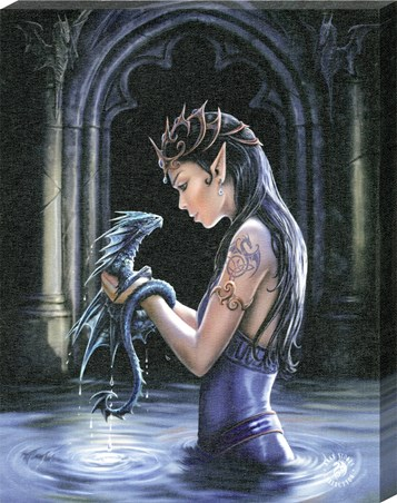 Water Dragon Canvas Print - Anne Stokes