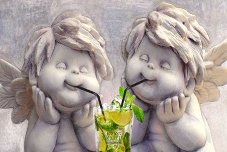 Framed Angelic Mojito Drinkers - Stone Cold Sober