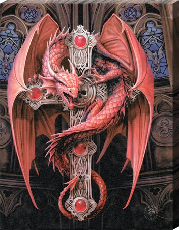 Framed Gothic Guardian - Anne Stokes
