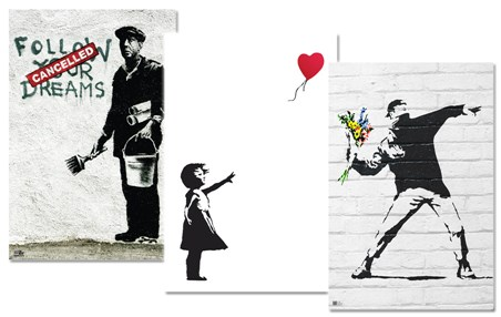 Banksy - 3 Pack Poster Bundle Deal