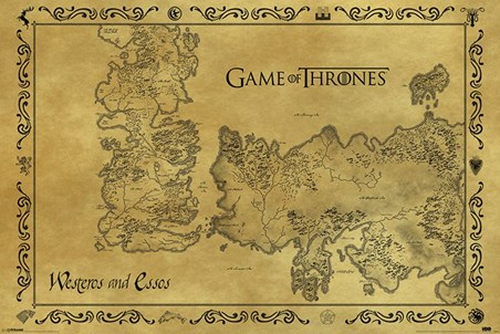 Antique Map - Game Of Thrones